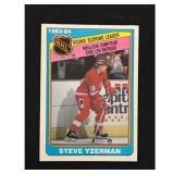 1984-85 Opc Steve Yzerman Rookie Leader Card