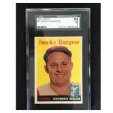 1958 Topps Smoky Burgess Sgc 84