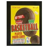 1990 Fleer Basketball Full Wax Box