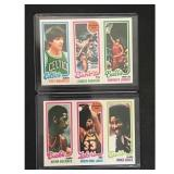Two 1980 Topps Basketball Cards Jabbar/maravich
