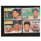Four 1956 Topps Baseball Cards