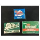 9 1987 Topps/fleer Baseball Mini/traded Sets