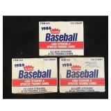 Three 1986 Fleer Baseball Update Sets