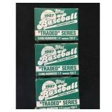 Three 1987 Topps Traded Baseball Sets