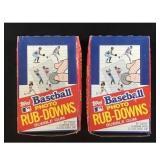 Two 1984 Topps Baseball Rub Downs Full Boxes