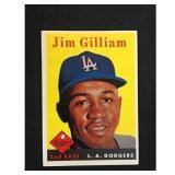 1958 Topps Baseball Jim Gilliam Card