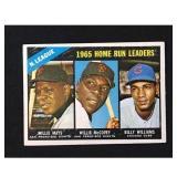 1966 Topps Hr Leader Card Willie Mays