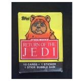 Return Of The Jedi Unopened Wax Pack