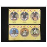 Two Zellers Baseball Uncut Card Sets