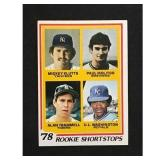 1978 Topps Paul Molitor/alan Trammel Rookie