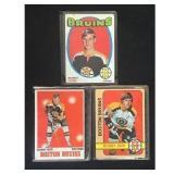 Three Vintage Bobby Orr Cards