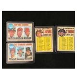 Four High Grade 1968 Topps Baseball Cards