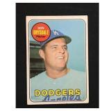 1969 Topps Don Drysdale Card Hof