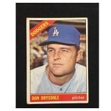 1966 Topps Don Drysdale Card Hof
