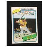 1980 Topps Rickey Henderson Rookie