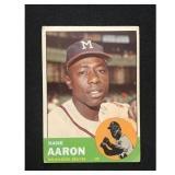 Low Grade 1963 Topps Hank Aaron Card