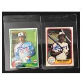 Pair Of Andre Dawson Signed Baseball Cards