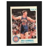 1986 Star Basketball Bill Laimbeer Card