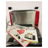 New Red Ronco Ready Grill With Steamer Basket