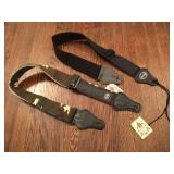 2 New Guitar Straps - One Black, One Camo