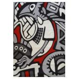 New Aboriginal Themed Area Rug Graffiti 4