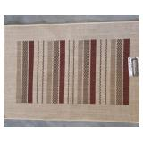 "New ""Maya"" Beige & Burgandy Art Decor Rug"