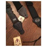 2 New Viper Guitar Straps - One Black, One Camo