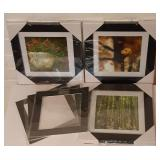 New $69.00 Set of 3 Framed Magical Forest Prints