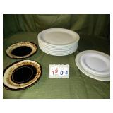 Lot of VERY Heavy-Duty Plates + Saucers