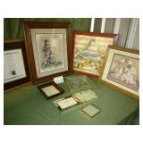 Large Assortment of Wall Pictures + Photo Frames