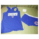 Size M Chicago Cubs Tank Top + Matching Shorts