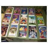Lot of 15 Assorted VHS Movies - DISNEY + More
