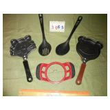 Cat + Bear Pancake Molds + Kitchen Utensils