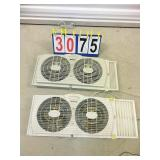Lot of 2 WINDOW FANS - Tested and Powers On