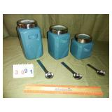 3 Piece Canister Set With See-Thru Lids & Scoops