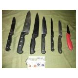 Lot of 7 Assorted Cutting Knives