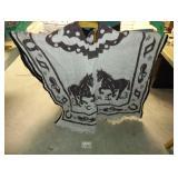 Blanket PONCHO - Horse Western Theme