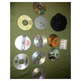 Lot of 9 DVDs + DVD Case Holder
