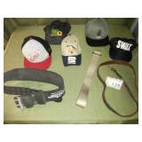 Assortment of Hats + Belts