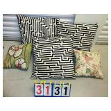 Lot of 5 Assorted Pillows