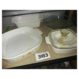 4 Piece Lot of Baking + Casserole + Pie Dishes
