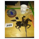 METAL Cowboy Wall Decor + Vintage Ashtray + More
