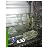 Lot of Clear Glass Items + VINTAGE Butter Dish