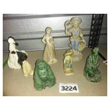Man + Woman BUDDHA Figurines + More