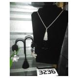 Nice Jewelry Lot - NECKLACE + EARRINGS PAIR
