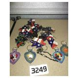 Large lot of HANDCRAFTED LEATHER Small Keychains