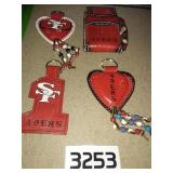 4 SAN FRANCISCO 49ers Handcrafted Leather Items