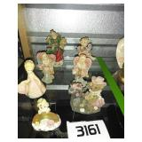 Lot of Figurines - Angels, Cowboy Bear + More