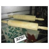 Qty of 2 LArge Wooden Rolling Pins - CLEAN!