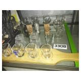 SHOT GLASS + Wooden Holder + MINI Wine Glasses